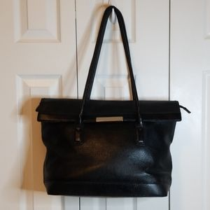 Banana Republic Black Leather Computer Bag / Tote